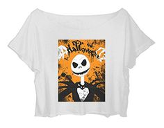Women's Crop Top Halloween T-Shirt Jack Skellington Happy Halloween Shirt (White) http://www.amazon.com/dp/B015H9VFIE/ref=cm_sw_r_pi_dp_Byx.vb1BN5GCP