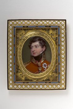 Miniature Portrait Of King George IV Wearing The Star Of The Order Of The Garter Made Of Enamel On Copper And Ormolu By Henry Pierce Bone  c.1821 - The Gilbert Collection At The Victoria & Albert Museum