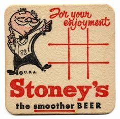The Smoother Beer Vintage Beer Signs, Sous Bock, Vintage Cocktails, Decoupage Printables, Beer Mats, Retro Illustration, Illustrations, Old Logo, Tiki Party
