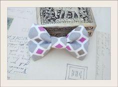 Unique Toddler Baby Boys Gray Purple Print Vintage Style Clip on Bow Tie | eBay