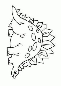 Wonderful Dinosaur Coloring Pages - coloringpage Preschool Coloring Pages, Halloween Coloring Pages, Coloring Pages For Boys, Animal Coloring Pages, Coloring Book Pages, Dinosaur Activities, Dinosaur Crafts, Cute Dinosaur, Dinosaur Coloring Sheets