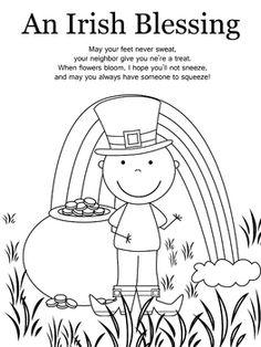 st patrick s day coloring pages color shamrocks leprechauns