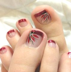 uñas 29 Ideas Pedicure Designs Toenails Nailart French Manicures Lamps: History of Lighting Numerous Simple Toe Nails, Pretty Toe Nails, Cute Toe Nails, Summer Toe Nails, Toe Nail Art, Pretty Toes, Fun Nails, Nail Art Designs, French Pedicure Designs