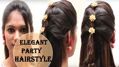 Simple, Easy and Elegant Party Hairstyle for Long and Medium Hair ... 2018