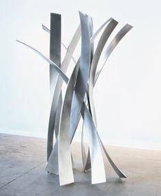 "Matt Devine, ""Brisas at Sculpturesite Gallery. Free Standing Sculpture, Metal Art Sculpture, Steel Sculpture, Outdoor Sculpture, Contemporary Sculpture, Abstract Sculpture, Contemporary Art, Trophy Design, Wire Art"