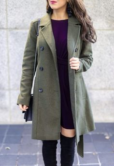 Olive Trench Coat an