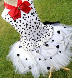dalmation puppy tutu costume by OCRockstarzBoutique on Etsy