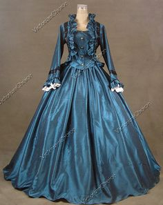 Civil War Victorian Satin Day/Evening Dress