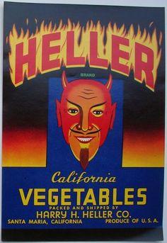HELLER Vintage Santa Maria Vegetable Crate label
