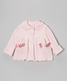 Take a look at this Light Pink Blossom-Pocket Fleece Coat - Infant by Mack & Co on #zulily today!