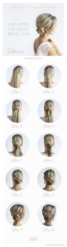 30 elegant wedding hairstyles for gentle brides - Oktoberfest hairstyles - # br . 30 elegant wedding hairstyles for gentle brides – Oktoberfest hairstyles –# brides Wedding Bun Hairstyles, Loose Hairstyles, Elegant Hairstyles, Halo Hairstyle, Latest Hairstyles, Celebrity Hairstyles, Bridal Braids, Bridal Hair, Elegant Wedding Hair