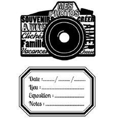 Shooting Photo - Tampons Acrylique Appareil Photo & Etiquette   La Boit'A Scrap : La caverne aux merveilles pour les passionnés de Scrapbook...