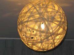 hanglamp maken van oud laken