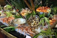 Ideas seafood buffet set up for 2019 Seafood Pot Pie, Seafood Lasagna Recipes, Seafood Mac And Cheese, Seafood Tower, Seafood Buffet, Seafood Boil Recipes, Seafood Menu, Seafood Platter, Restaurant Recipes