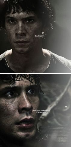 """""""I act scary, Mike. But most of the time, I'm terrified."""" #the100"""