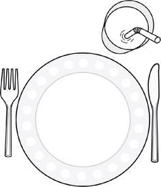 Color in printable placemat to help children set the table Healthy Food Activities For Preschool, Classroom Activities, Activities For Kids, Childhood Education, Kids Education, English Activities, Food Crafts, French Food, Interactive Notebooks