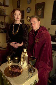 Love these two! :)✯ Wiccan High Priestess Janet Farrar and High Priest Gavin Bone :: Photo © Courtesy Of Janet and Gavin Bone ✯
