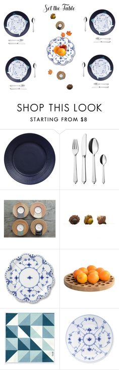"""""""set the table"""" by amelie-sortehund ❤ liked on Polyvore featuring interior, interiors, interior design, home, home decor, interior decorating, Royal Copenhagen, Georg Jensen, .wireworks and ferm LIVING"""