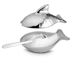 fuksas adds fish-themed salt cellar and oyster knife to colombina cutlery set for alessi. The pieces are specifically designed for the preparation and consumption of seafood, with each utensil. Designboom.com