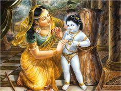 Damodar Leela - Yashoda tying Krishna