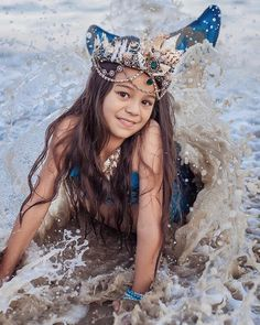 Large Mermaid Crown, Festival Crown, Beach Bride Seashell Crown ~ MARIAH #greenmermaidcrown