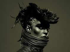 Woah cool beans love the mohawk hat. By fashion photographer Pierre Dal Corso