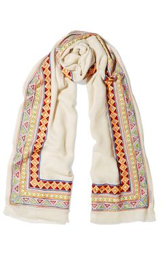 JANAVI Embellished merino wool and cashmere-blend scarf