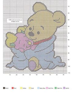 BABY POOH AND BABY PIGLET by CREATIVECANVASCRAFTS.COM -- WALL HANGING