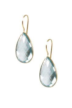 love the light aquamarine color of these earrings
