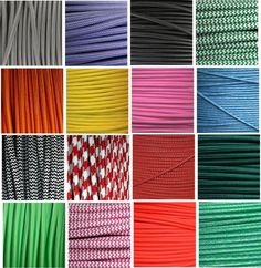 Textil-Kabel Stoffkabel, Lampenkabel Verlängerungskabel Stromkabel Flachkabel