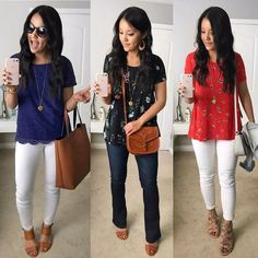 3 Outfits With a Gold Pendant Necklace