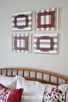 DIY: Canvas Art with Laser Cut Frames | HappyClippings.com