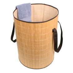 This beautiful bamboo laundry hamper is designed to fit neatly anywhere in your home. Made to get your laundry to the machine easily and conveniently, this hamper would be the perfect addition.