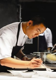 Chef Andre Chiang @ Restaurant Andre @sudarampai chiang: Andre is quite famous na :)