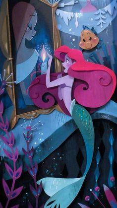 Disney WonderGround Gallery Mermaid Ariel What's A Fire Print by Brittney Lee Diorama, Brittney Lee, Wallpapers Tumblr, Comic Anime, Karten Diy, Disney Artists, Walt Disney Animation Studios, Arte Disney, Disney Music