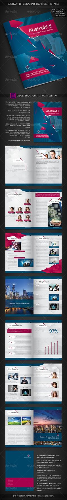 Abstrakt II - Corporate Company Profile - 16 Pages  #corporate #cyan #design • Available here → http://graphicriver.net/item/abstrakt-ii-corporate-company-profile-16-pages/7741702?s_rank=468&ref=pxcr