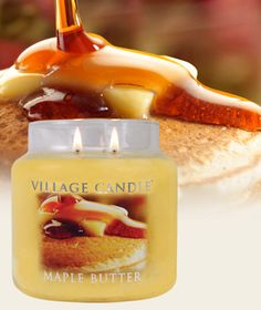 Maple Butter-Premium Round Scented Candles | Village Candle