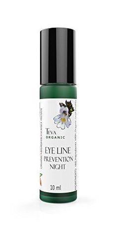 Eye Line Prevention Oil 100 All Natural Organic Ayruvedic Crows Feet AntiAging Wrinkle Night Serum sustainable wild crafted antioxidant freeradical scavenging stimulating collagen renew rejuvenate essential oils concentrated Teva Skin Science -- See this great product.