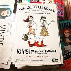 Affiche du #spectacle Les sœurs Tartellini â l'Espace Roseau #avignon pendant le #festival @avignonleoff #avignonleoff