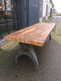 stoere tafel oud grenen