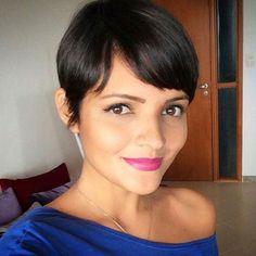 women's short haircut for fine hair
