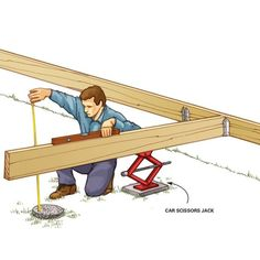 Joist Leveler 2019 When youre building a deck or other structure solo its pretty hard to level long joists and beams then hold them in place while you secure them. The post Joist Leveler 2019 appeared first on Deck ideas. Deck Plans, Shed Plans, Terrasse Design, Laying Decking, Deck Construction, Deck Stairs, Diy Deck, Building A Shed, Building Plans