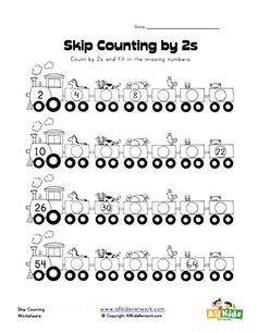 skip counting by twos worksheet