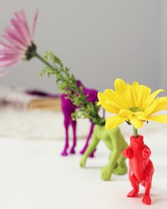 DIY Wild Animal Bud Vase