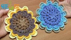 Sunflower Crochet How to Tutorial 48 Part 2 of 2 - Sheru Studio - on YouTube