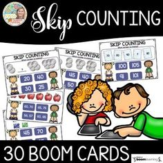 These Boom cards cover skip counting. Students will: *Count by ones *Count by twos *Count by fives *Count by tens WHAT IS A BOOM CARD? Are you trying to go 1:1 in your classroom? Do you have devices, but not always sure how to keep your