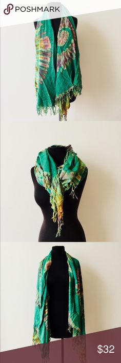 ❗️Tye Dye Large Green Pashmina/ Scarf ❗️Boho large green tye dye pashmina/ Scarf. Very large in great condition. Feel free to make an offer! I'm selling to the first good offer I receive. Huge Holiday Clearout Sale! All must go ;-) Accessories Scarves & Wraps