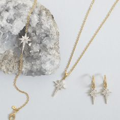 Wonderlust with our Fallen Star collection of diamond jewellery available online now