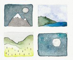 inktober 29 - tiny landscapes paper-goose