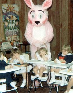 vintage Scary Easter Bunny | Let's start with some menacing mascots, shall we?